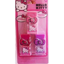 Hello Kitty, 3 Esmaltes/pinturas De Uñas, Original De Sanrio