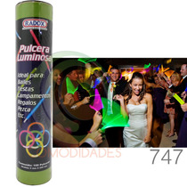 Paquete Fiesta 100 Pulseras Luminosos Neon Glow Cyalumen Dj