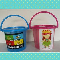 Mini Cubeta Personalizada.dulcero,recuerdo Fiesta Infantil