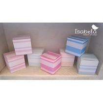 10 Cajitas Cajas Cubo Mesa De Dulces Baby Shower Bautizo