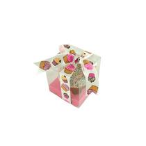 6 Cajas Para Cupcake Con Base, Caja De Acetato,caja De Mica