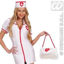 Traje De Enfermera - Naughty Satén Atractivo Del Bolso Del