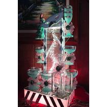 Burbujero De Cristal Con Antifaz Para Copas De Boda, Xv Años