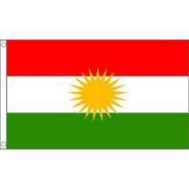 La Bandera Del Kurdistan - 3ftx 2ft Nacional País Metal Oja