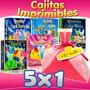 Pack Cajitas Recuerdos Princesas Disney Kit Imprimible 5x1