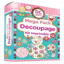 Kit Imprimible Decoupage + Tutorial Tecnicas
