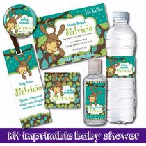 Kit Imprimible Baby Shower Personalizado Invitaciones Etique