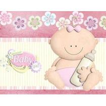 Kit Imprimible Baby Shower Nena Diseñá Tarjetas Y Mas