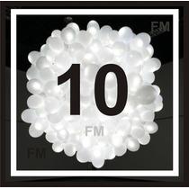 10 Globos Con Luz Led Blancos Boda Fiestas Evento Decoración