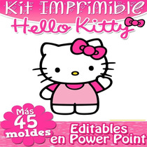 Kit Imprimible Hello Kitty, 100% Editable En Powerpoint 2x1