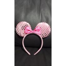 10 Orejas Minnie Mouse Raton Diadema Mimi Rosa Rojo Negra