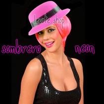 10 Sombreros Gorra Neon Fiesta Fluorescente Luz Negra Disco