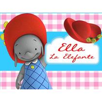 Kit Imprimible Ella La Elfanta Diseñá Tarjetas Invitaciones