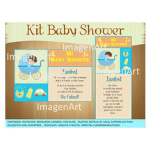 Kit Para Imprimir De Baby Shower, Invitacion, Recuerditos,,,