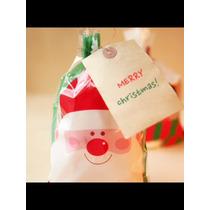 Bolsas De Celofan Decoradas Navidad Fiesta Recuerdo Infantil