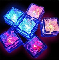 10 Hielos Luminosos Luz Led Fiestas Bodas Eventos Sumergible