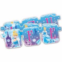 Letrero Feliz Cumpleaño Desechables Fiesta Disney Marvel Y +