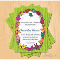 Invitacion Digital Imprimible Mariposas Cumpleaños