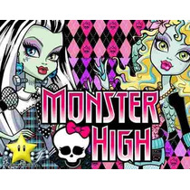 Kit Imprimible Monster High Diseñá Tarjetas, Cumples Y Mas