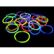 100 Pulseras Neon Xv Años Fin De Año Batucada Luminosas