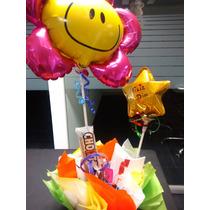 Arreglo Globos Para Cumpleaños En Cajita Y Con Dulces