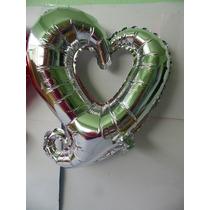 Globos Metálicos De Corazón Para Fiestas Decoración 10 Pzas