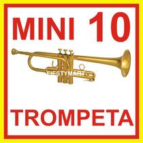 10 Mini Trompetas Silbato Corneta Fiesta Boda Dj Xv Batucada
