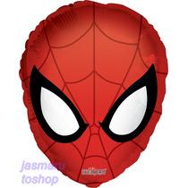 6 Globos Metalico 18pulg Cara Spiderman Decora Arregla Ymas