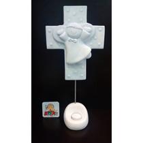 Centro De Mesa Angelito Con Cruz Para Bautizo O Comunión