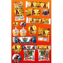 Kit Imprimible Iron Man Personalizado Mas De 30 Etiquetas