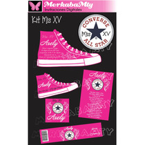 Kit Mis Xv Tenis Converse Personalizado Imprimelo Tú!!