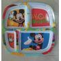 Fiesta Mickey Mouse Plato Melamina Divisiones Dulcero