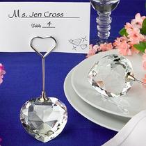 Paquete De 25 Portatarjetas De Cristal En Forma De Corazón
