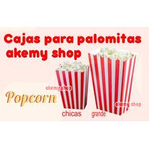 Cajas Para Palomitas Tamaño Chico Con 10 Piezas Fiesta