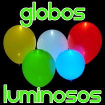 10 Globos Con Luz Led Fiestas Eventos Decoración Luminosos