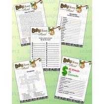 Juegos Para Baby Shower Safari-balbuceo-crucigrama