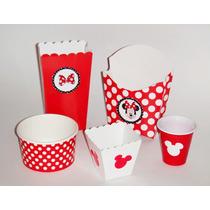 Fiesta Minnie Mouse Mesa De Dulces Postres Cupcakes Dulceros