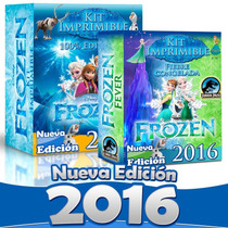 Kit Imprimible Fiesta Frozen Completo 100% Editable 2015