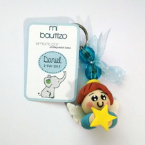 Recuerdos Baby Shower Pasta Francesa Llaveros Bebés