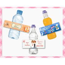 Etiquetas Personalizadas Para Botella De Agua Temáticas