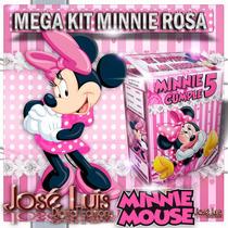 Minnie Mimi Rosa Invitacion Cajitas Kit Imprimible Jose Luis