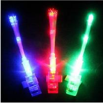 10 Anillos Con Luz Led Con Fibra Optica, Para Fiesta