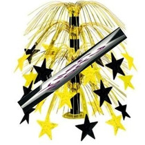 Centro De Mesa Estrellas Oro / Negro