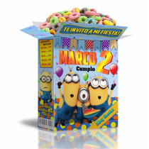 2x1 Kit Imprimible Minions Powerpoint 100% Editable Invitaci
