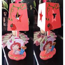 Lamparas Rosita Fresita Personalizadas Centros Mesa Infantil