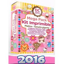 100 Kits Imprimibles Premium Completos + Patrones + Unicos!!