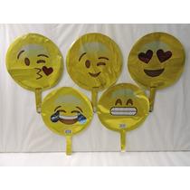 Globos Emojis Fiestas Decoracion 10 Metalicos 9 Pulgadas