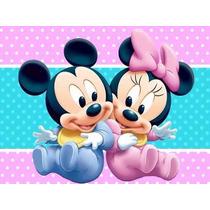 Kit Imprimible Mickey Y Minnie Bebe, Invitaciones Y Cajitas