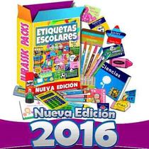Etiquetas Escolares Personalizadas 100% Editables Kit 2016