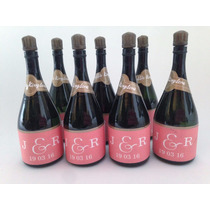Burbujeros Botella Champagne Boda Novias Recuerdo Burbujas